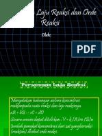 Persamaan Laju Reaksi dan Orde Reaksi