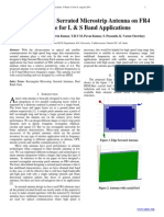 Dual Band Edge Serrated Microstrip Antenna on FR4  Substrate for L & S Band Applications