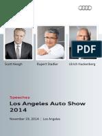 Speeches, Los Angeles Auto Show, November 19, 2014