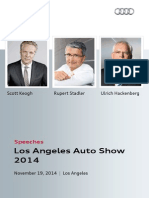 Speeches, Los Angeles Auto Show, November 19, 2014