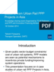 Lessons from Urban Rail PPP  Projects in Asia