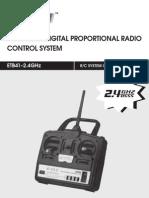 R/C System ETB41 2,4GHz ART-TECH (English)