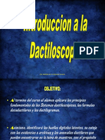 Introduccion a La Dactiloscopia