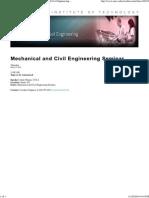 Mechanical and Civil Engineering _ Mechanical and Civil Engineering Seminar