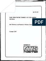 Plane Strain Fracture Toughness Data Handbook for Metals