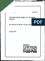 Plane Strain Fracture Toughness Data Handbook for Metals
