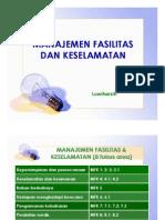 6. Manajemen Fasilitas & Keselamatan (MFK)