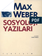 Max Weber Sosyoloji Yazıları