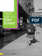 The Right Age to Start School