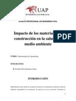 Impacto de los materiales de construcción en la salud y el medio ambiente