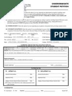 Undergrad Petition 142