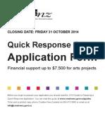 2014 application form quick response grant final