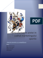 Particularitati Ale Pietei in Cadrul Marketingului Sportiv