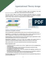 Organizational Theory Design and Change Summary