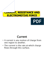 Current, Resistance and Electromotive Force