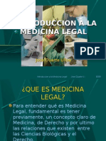 Introduccion a La Medicina Legal