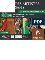 Dossier Guide - Salon des Artistes & Artisans 2éme Edition - 2014 au Mega Mall - PUBLIMA-