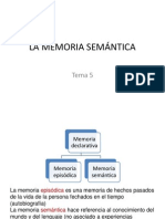 5.La Memoria Semántica
