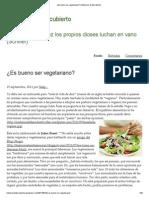 ¿Es Bueno Ser Vegetariano_ _ Misterios Al Descubierto