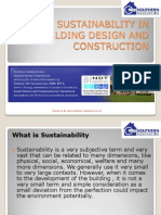 Sustainability in Building Design and Construction