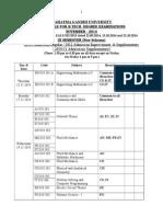 Time-table for B_Tech Nov -2014