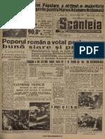 Scanteia 31 Martie 1948