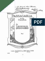 Passacaglia Godowsky