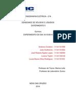 Relatório de Quimica - Experimento - 5