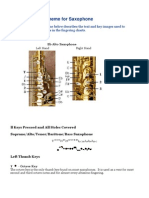 Fingering Scheme for Saxophone