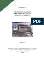 Proposal Mesin Gabah p3a