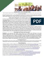 Jumaa Prayer Bulletin 21 November 2014