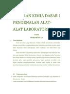 Laporan Praktikum Kimia Pengenalan Alat Dan Bahan Di Laboratorium Kimia