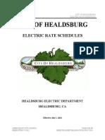 Healdsburg-Electric-Department-Tariff-Book