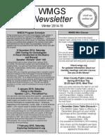 WMGS Winter 2014-15 Newsletter