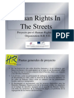 Human Rights in the Streets - Spanish