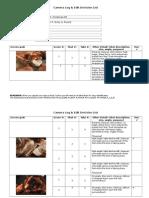 camera log edit decision list exemplar