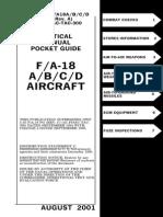 Tactical Manual Pocket Guide F a 18 a B C D Aircraft Aug 2001