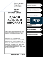 Tactical Manual Pocket Guide F a 18 a B C D Aircraft Aug 2001