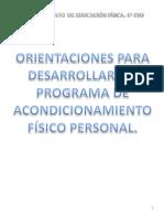 programa de acondicionamiento físico 4º ESO