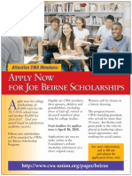 Apply NOW for the CWA Bierne Scholarship