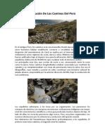 Evolucion de Los Caminos Del Peru