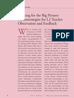 teacher observation and feedback