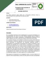 Informe Cientifico del proyecto de investigación