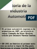 Historia de la industria automotriz Argentina
