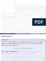 Linear Spaces
