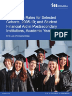 Graduation Rates for Selected Cohorts, 2005-10; and Student Financial Aid in Postsecondary I nstitutions, Academic Year 2012-13