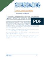 Delitos contra La Administración Pública. La corrupción en Argentina.