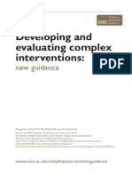 Complex Interventions Guidance