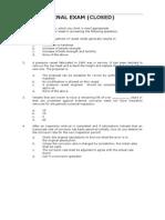 API 510 PC 20 31 Aug05 Final Exam Closed