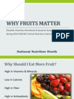 why fruits matter